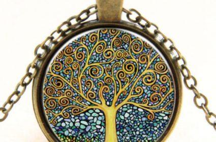 colgante original arbol bronce