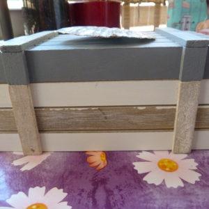Caja madera con concha
