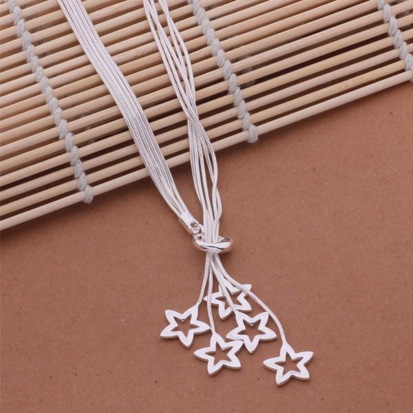 colgante lluvia de estrellas plata 925