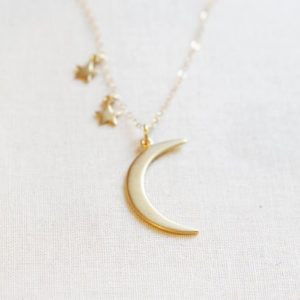 colgante luna y estrellas