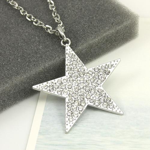 colgante estrella brillante