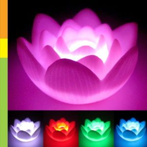lámpara flor de loto led