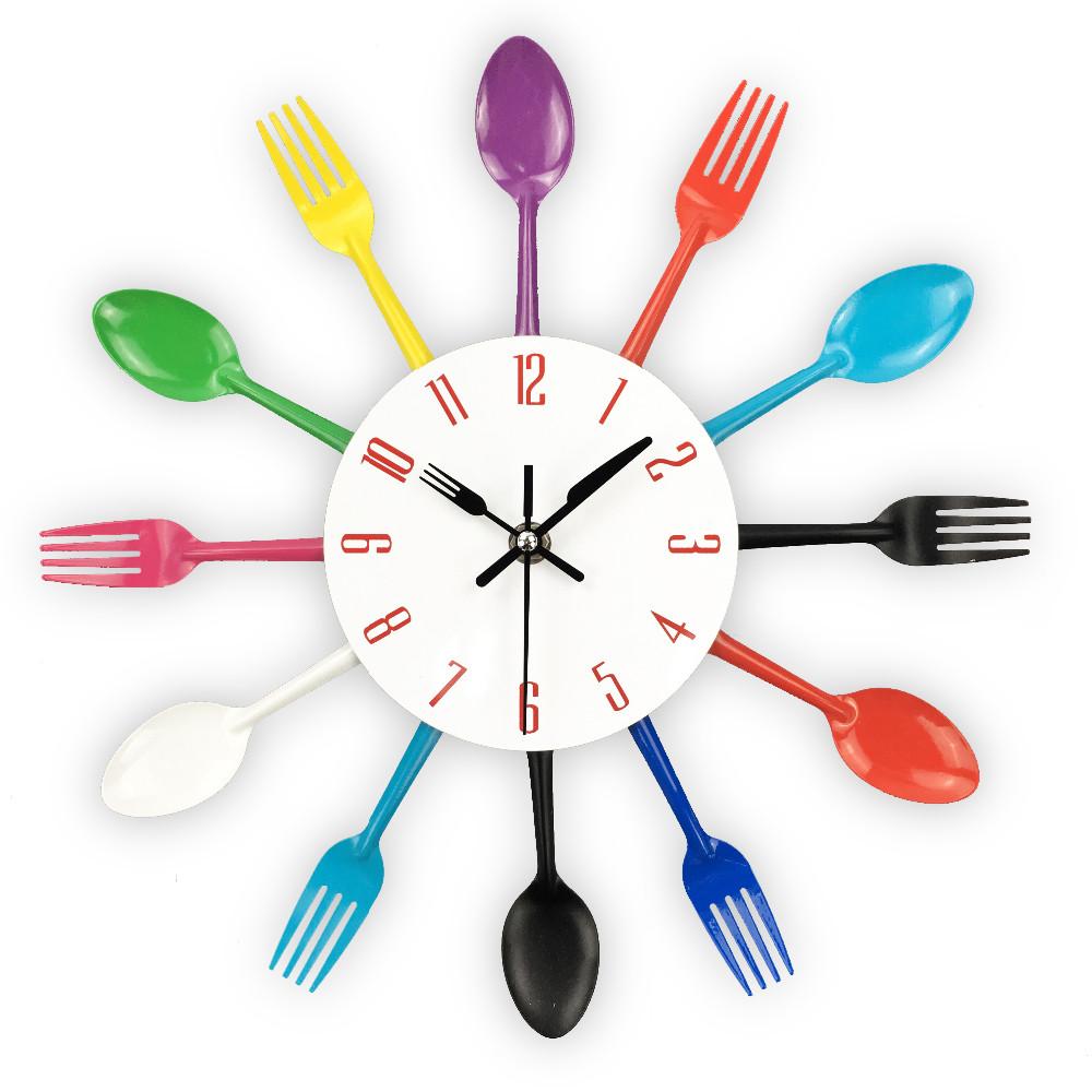Reloj de pared divertido para cocina moderna una tienda - Relojes de pared para cocina ...