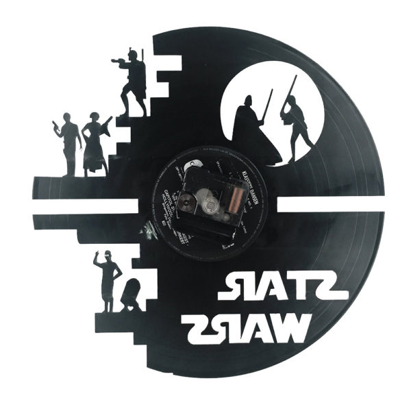 reloj star wars disco vinilo