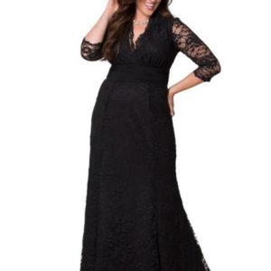 vestido largo con encaje goth fiesta