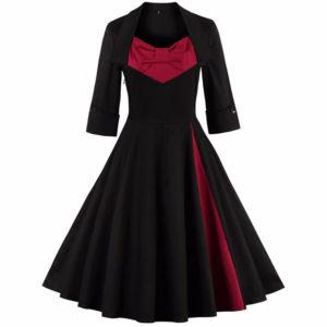 vestido vintage moderno colores y estampado tallas grandes