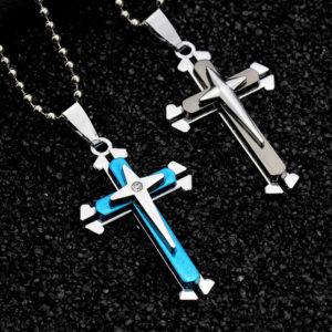 colgante cruces hombre acero