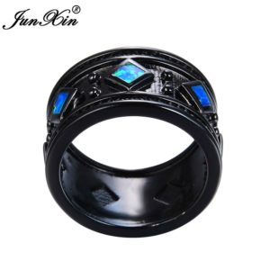anillo opalo oro negro