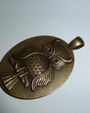 colgante buho bronce