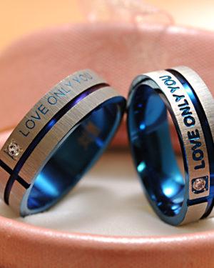 anillo love pareja acero