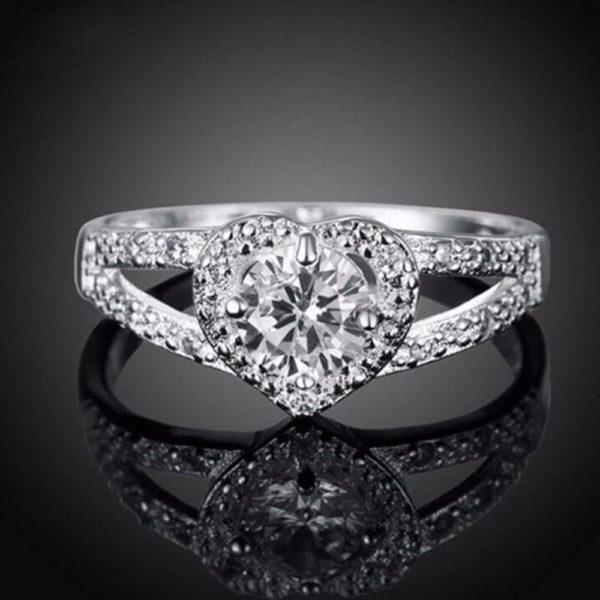 anillo cristal corazon amor