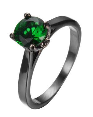 anillo verde zirconita