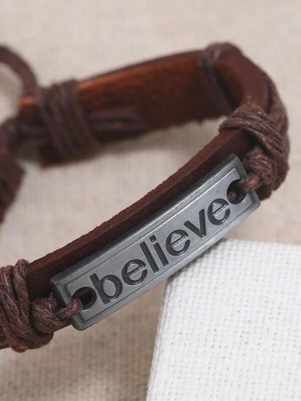 Pulsera Believe letra tallada
